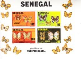 1982 Senegal Butterflies Papillons Miniature Sheet Of 4  MNH - Senegal (1960-...)