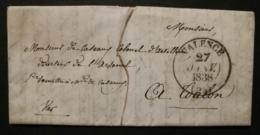 Drôme.Lettre Avec Cachet Type 13 De Valence.Pour Toulon Var - 1801-1848: Précurseurs XIX