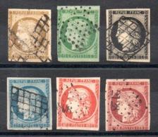 YT N° 1 à 6 - Cote: 3080,00 € - 1849-1850 Ceres