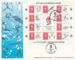 Rare Enveloppe Premier Jour  Grande Planche JO Hiver - FDC