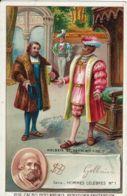 CHROMO CACAO BENSDORP AMSTERDAM 1900 HANS HOLBEIN LE JEUNE ET HENRI VIII - Cioccolato