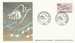 Rare Enveloppe Premier Jour Amnesty International - 1990-1999