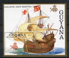 Guyana 1988. Yvert Block 16 ** MNH. - Christoffel Columbus
