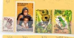 NIGER OB N° 684 + 715 + 726 + 727 - Niger (1960-...)