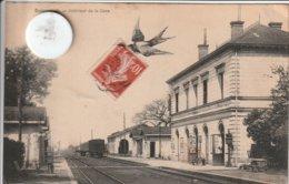 28 - Très Belle Carte Postale Ancienne De  BONNEVAL   En Eure Et Loire   Intérieur De La Gare - Bonneval