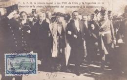 CPA Argentine / Republica Argentina - S.A.R.la Infanta Isabel Y Los Ptes De Chiles Y La Argentina  - 1922 - Argentine