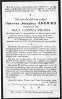 Andries J.j. (gesneuveld Herentals 1883 - Harderwijk 1917) - Religion & Esotérisme