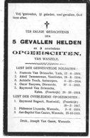 Wanzele (gevallen Helden En Opgeeisten '14  -'18) - Religion & Esotérisme