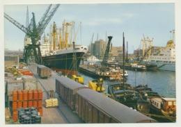 AK  Amsterdam Hafen Kran Verladung - Barche