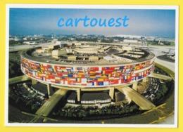 CPM ☺♦♦ AIRPORT/ AEROPORT ♥♥♣♣☺♣♣ FLUGAFEN  Aéroport Paris Charles De Gaulle - Empavillonnage Drapeaux Européens  ♦♦☺ - Aérodromes