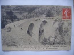Nouvelle Ligne De Chemin De Fer De St Cécile D' Andorge A Florac 12eme Vue Plus Haut Pont A St Frézal De Ventalon  état - Unclassified