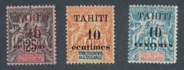 DB-159: TAHITI: Lot Avec N°31/33* - Tahiti (1882-1915)