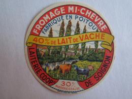 Etiquette De Fromage Chèvre  Soignon 79 40% Lait De Vache  Le Préféré - Cheese