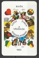 Hungary,  Playing Card,  Hungavis  Advertising, 1982. - Kalenders