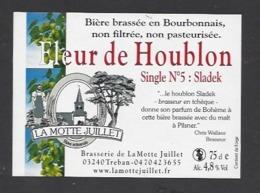 Etiquette De Bière  -  Fleur De Houblon -  Brasserie La Motte Juillet à Tréban   (03) - Bière