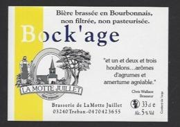 Etiquette De Bière  -  Bock'age -  Brasserie La Motte Juillet à Tréban   (03) - Birra