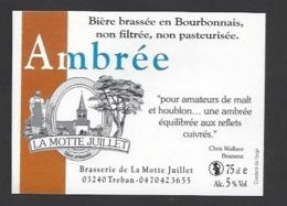 Etiquette De Bière  -  Ambrée -  Brasserie La Motte Juillet à Tréban   (03) - Birra
