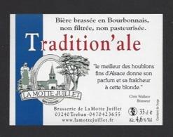 Etiquette De Bière  -  Tradition'ale -  Brasserie La Motte Juillet à Tréban   (03) - Bière