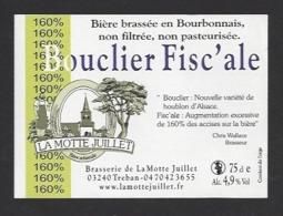 Etiquette De Bière  -  Bouclier Fisc'ale -  Brasserie La Motte Juillet à Tréban   (03) - Birra