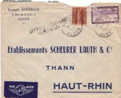 ALGERIE : 1952 - Lettre Commerciale Par Avion Pour La France - AFFRANCHISSEMENT VERIFIE - Algeria (1924-1962)