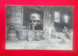 """Besançon - Brasserie Par Actions De La Mouillère - Bière """" La Bisontine """" - Circulée 1907 . - Besancon"""