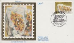 Enveloppe  FDC  1er  Jour  MONACO    Minéraux  Du  Mercantour  :   CHLORITE    1990 - Minéraux