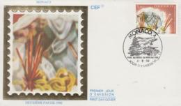 Enveloppe  FDC  1er  Jour  MONACO    Minéraux  Du  Mercantour  :   RUTILE    1990 - Minéraux