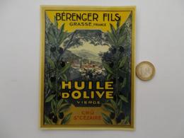 Etiquette Ancienne ParfumerieGRASSE Huile - Labels