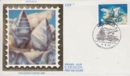 Enveloppe  FDC  1er  Jour  MONACO    Minéraux  Du  Mercantour  :   ANATASE    1990 - Minéraux