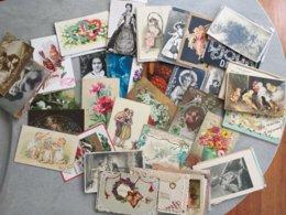 Déstockage - Lot De 150 Cartes Fantaisie - Femmes, Fleurs, Animaux, Illustrations... - 100 - 499 Cartoline