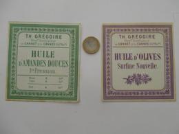 Etiquette Ancienne Parfumerie GRASSE Huile - Labels