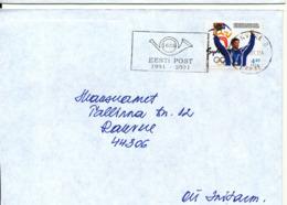 Estonia Cover 21-5-2001 Single Franked Olympic Games Stamp - Estonia