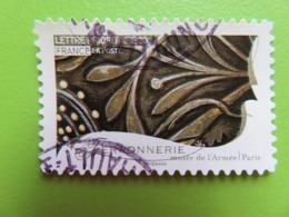 Timbre France YT 259 AA - Métiers D'art - Ferronnerie (Ornement Musée De L'Armée à Paris) - 2009 - Cachet Rond - France