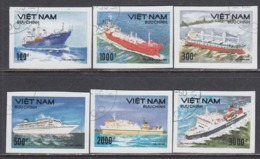Vietnam 1990 - Modern Ships, Set Of 6 Stamps, Imperforated, Canceled - Vietnam