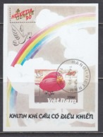 Vietnam 1990 - Zeppelin, S/sh, Imperforated, Canceled - Viêt-Nam