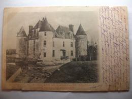 Carte Postale Les Moutiers Les Mauxfaits (85) Le Chateau De Cantaudiere (CPA Dos Non Divisé Circulée) - France