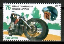 Cuba 2019 / Transport Motorcycle Road Safety MNH Motorbike Motocicleta Moto Seguridad Vial / Cu14822  C4-6 - Moto