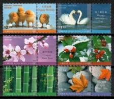 Hong Kong 2001 / Birds Flowers Greetings MNH Vögel Blumen Aves Flores Fleurs Oiseaux / Cu14619  36-8 - Non Classificati