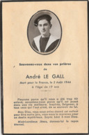Andre Le Gall 5 Août 1944 1925 Marin Marine - Documents Historiques