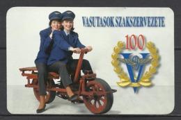 Hungary, Old Rail-Bike, Railroad Union  Ad, 1997. - Klein Formaat: 1991-00