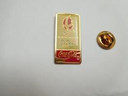 Beau Pin's , JO , Jeux Olympiques  Albertville 1992 , Coca Cola , Signé COJO 1988 - Jeux Olympiques