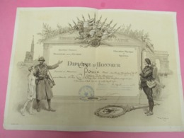 Militaria/Diplome D'Honneur/Ministére De La Guerre/1er Prix De Boxe Anglaise/Stade Bordelais/BORDEAUX/1922        DIP214 - Diplômes & Bulletins Scolaires