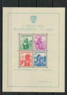 Yugoslavia Kingdom 1937 ☀ Philatelic Exhibition - National Costumes SS ☀ MNH OG - Unused Stamps