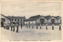 ESCRIME- ORLEANS, 80e REGIMENT D'ARTILLERIE - 30e REGIMENT D'ARTILLERIE EXERCICE DU SABRE - Schermen