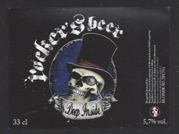 Etiquette De Bière  Blonde -  Klub Deep Inside Rock  -    Brasserie De Longchamp  (21) - Beer