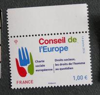 FRANCE - TIMBRES DE SERVICE - CONSEIL EUROPE - 2016 - YT 168 ** - Charte Sociale Européenne - Nuovi