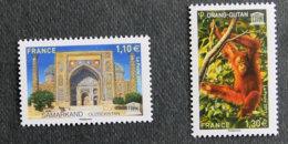 FRANCE - TIMBRES DE SERVICE - UNESCO - 2017 - YT 169 Et 170 ** - Samarkand Et Orang Outan - Nuovi