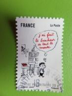 Timbre France YT 363 AA - Sourires - Le Petit Nicolas - Goscinny - Sempé - 2009 - Cachet Rond - Autoadesivi