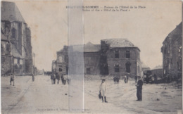 CPA  BRAY-SUR-SOMME RUINES DE L'HÔTEL DE LA PLACE - Bray Sur Somme