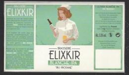 Etiquette De Bière Blanche IPA  -  Ibu Profane  -    Brasserie Elixkir  à  Couternon  (21) - Beer